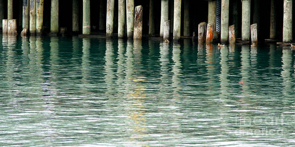 Dock Art Print featuring the photograph Patterns Of Abstraction by Linda Shafer