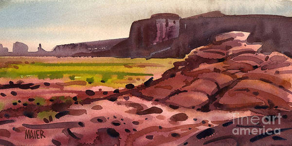 Monument Valley Art Print featuring the painting Pillow Rocks by Donald Maier