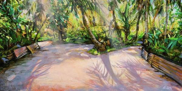 Landscape Art Print featuring the painting Pink Tin by Ric Castro