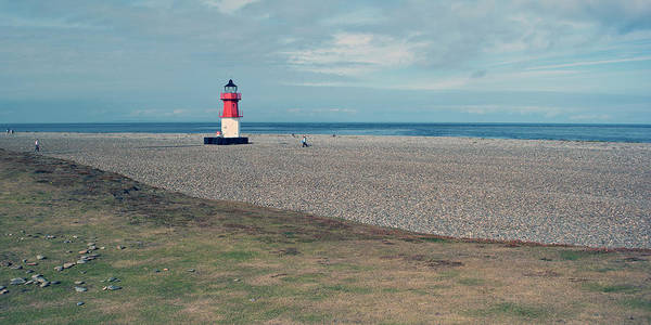 Lighthouse Art Print featuring the photograph Point Of Ayre by Steve Watson