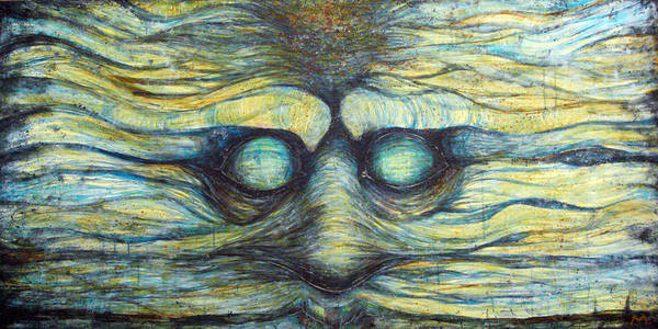 Face Art Print featuring the painting Possession Of Mind by Mark M Mellon