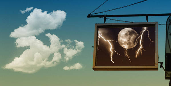 Sky Art Print featuring the photograph Read The Signs by Kristie Bonnewell