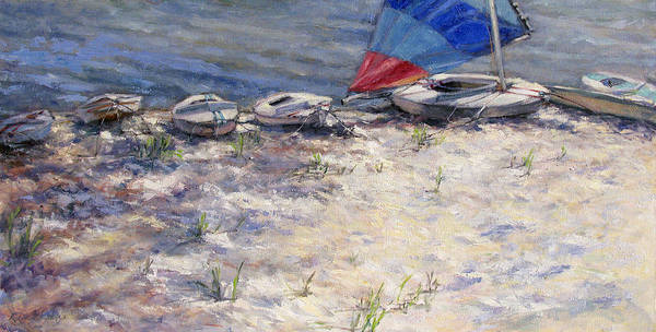 Sail Boats Art Print featuring the painting Ready To Roll by L Diane Johnson