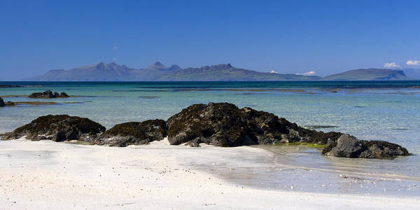 Scotland Art Print featuring the photograph Rum And Eigg From Achateny Beach by John McKinlay