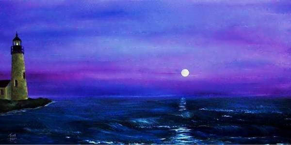Seascape Art Print featuring the painting Seascape II by Tony Rodriguez