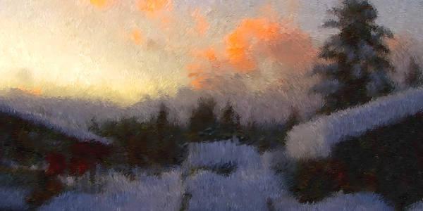Sunset Art Print featuring the photograph Snow Bound by Robert Bissett
