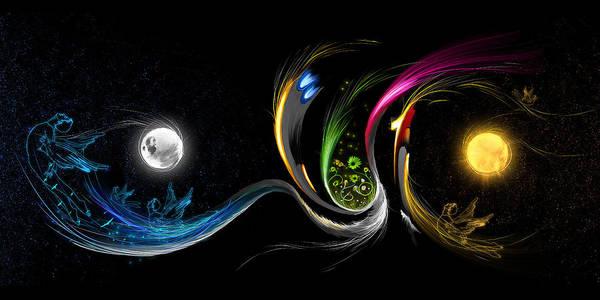 Allah Art Print featuring the digital art Start2end by Ahmer Farooqui