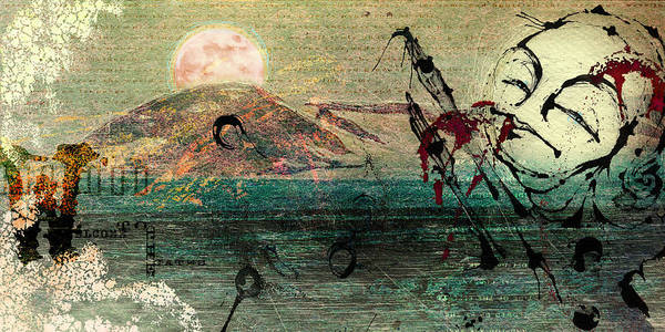 Digital Paintings Art Print featuring the painting The Beginning by Mark M Mellon