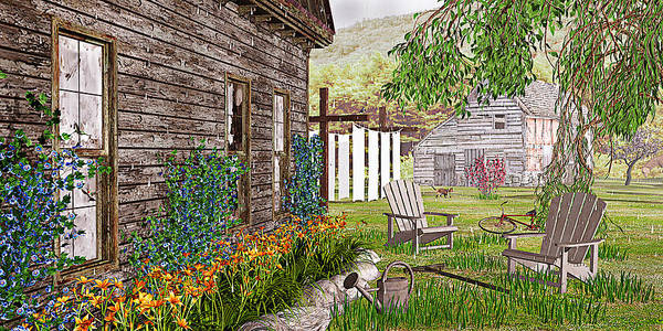 Adirondack Chair Art Print featuring the photograph The Chicken Coop by Peter J Sucy