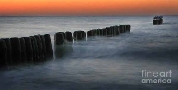 Sea Art Print featuring the photograph The Peaceful Sea by Angel Ciesniarska