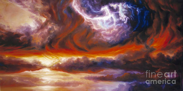 Tempest Art Print featuring the painting The Tempest by James Christopher Hill