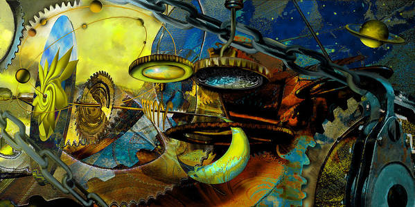 Science Art Print featuring the painting The Wheelwork Of Antikythera by Anne Weirich
