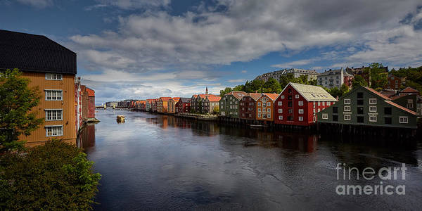 Alesund Art Print featuring the photograph Trondheim by Tamson