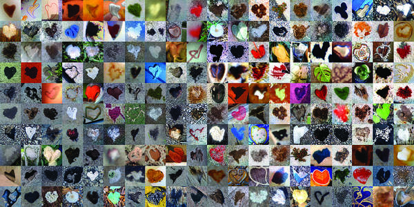 Heart Images Art Print featuring the photograph Two Hundred And One Hearts by Boy Sees Hearts