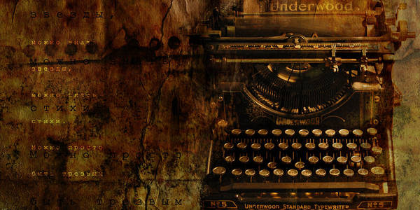 Typewriter Poetry Writing Art Print featuring the photograph Typewriter by Inesa Kayuta