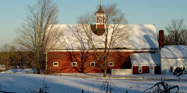 Hollis New Hampshire Print featuring the photograph Winter Red by Paul Gaj