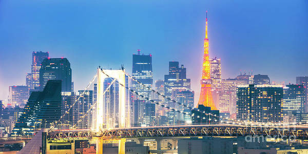 Tokyo Skyline Art Print featuring the photograph Tokyo Nights by Matteo Colombo