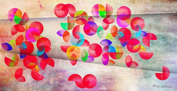 Contemporary Art Print featuring the painting Abstract Floral by Mark Ashkenazi