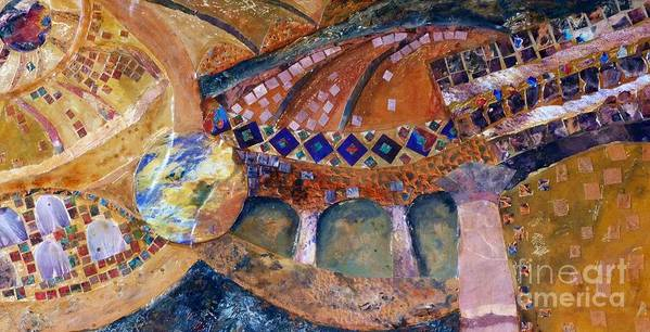 Collage Print featuring the painting Agia Sophia Istanbul by Jacki Wright