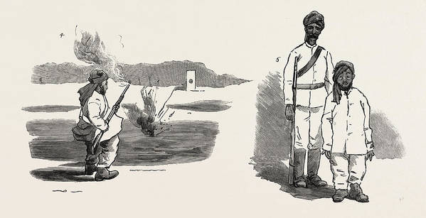 Uprising Art Print featuring the drawing The Rebellion In The Soudan Sudan The Material With Which by English School