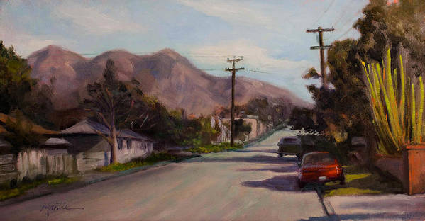 Streetscape Art Print featuring the painting Valmont by Athena Mantle