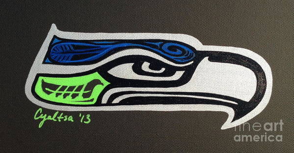 Seattle Seahawks Art Print featuring the painting Who Ready by A Cyaltsa Finkbonner