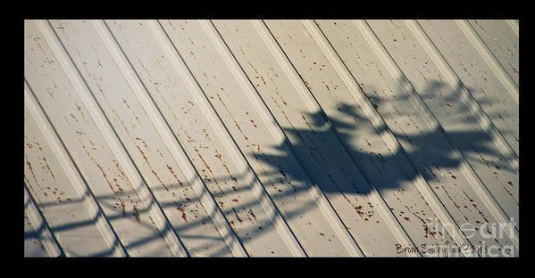Roof Art Print featuring the photograph Windmill Shadows by Brian Seidenfrau