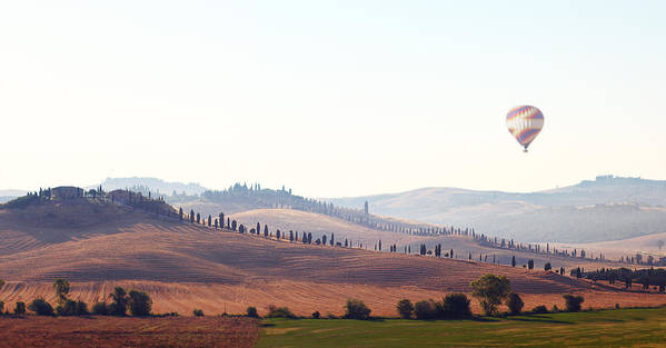 Horizontal Art Print featuring the photograph Early Morning In Tuscany by Lena Khachina
