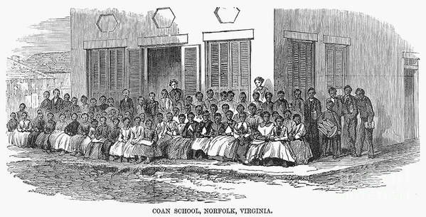 1868 Art Print featuring the photograph Freedmens School, 1868 by Granger