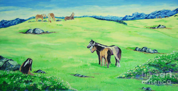 Peace In The Valley Art Print featuring the painting Peace In The Valley by Lisa Rose Musselwhite