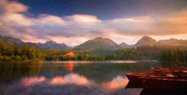 Landscape Art Print featuring the painting Nature Landscape Graphics by World Map