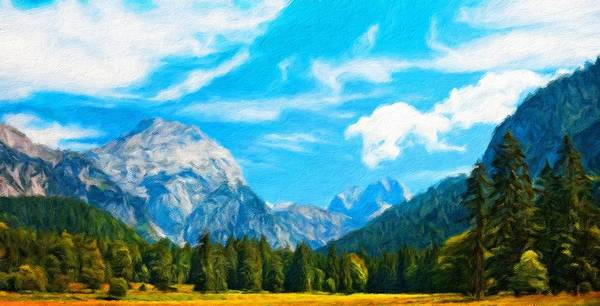 Landscape Art Print featuring the painting Nature Landscape Jobs by World Map