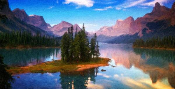 Landscape Art Print featuring the painting Nature Art Landscape by World Map