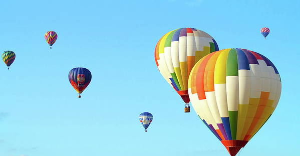 Balloons Art Print featuring the photograph 7 Balloons by Linda Cupps