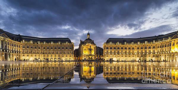 Bordeaux Art Print featuring the photograph Bordeaux Place De La Bourse by Pier Giorgio Mariani