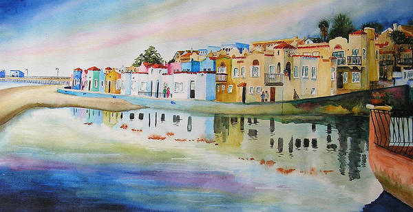 Capitola Art Print featuring the painting Capitola by Karen Stark