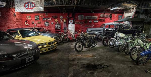 Garage Art Print featuring the photograph Garage by Hans Wolfgang Muller Leg