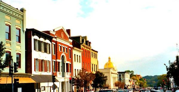 Buildings Art Print featuring the photograph Georgetown by Bob Gardner