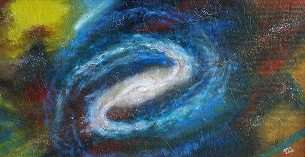 Milky Way Art Print featuring the painting Home Is Where The Sun Is by David McGhee