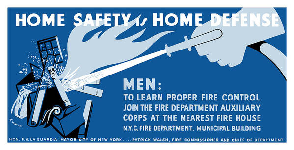 Wpa Art Print featuring the painting Home Safety Is Home Defense by War Is Hell Store