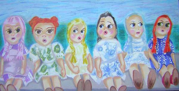 Dolls Art Print featuring the painting Shut Up And Look Pretty by Michelley QueenofQueens