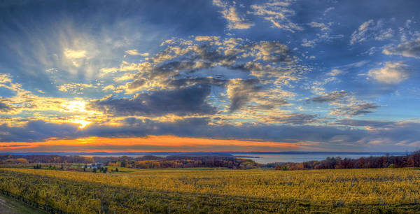 Traverse Art Print featuring the photograph Sunset From Old Mission by Twenty Two North Photography