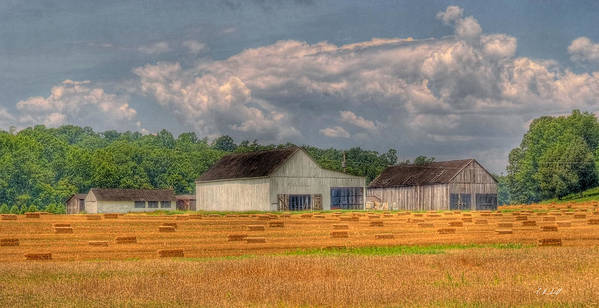 Hdr Art Print featuring the photograph Tobacco Barn 2 by E R Smith
