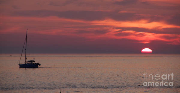 Sunrise Ocean Art Print featuring the photograph Waiting To Sail by Michael Mooney