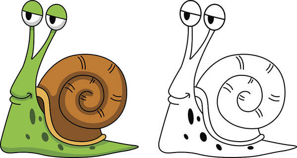Illustration Of Educational Coloring Book-snail Art Print by Jehsomwang
