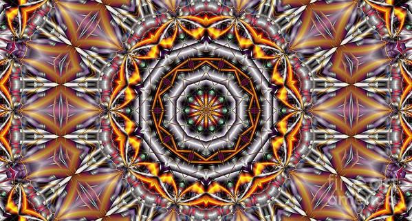 Kaleidoscope Art Print featuring the digital art Kaleidoscope 41 by Ron Bissett