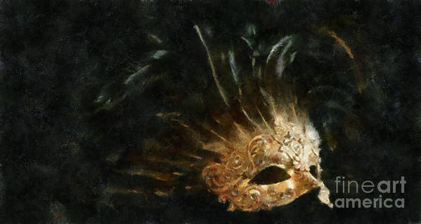 Mask Art Print featuring the painting Mask Of Evening by Scott B Bennett