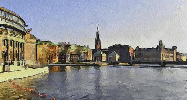Stockholm Art Print featuring the digital art Stockholm 7 by Yury Malkov