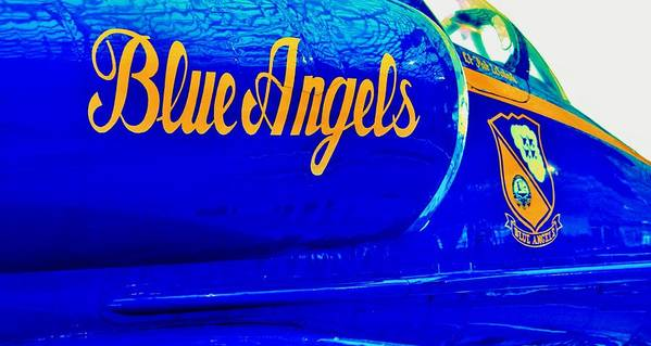 Blue Angels Print featuring the photograph Vintage Blue Angel by Benjamin Yeager