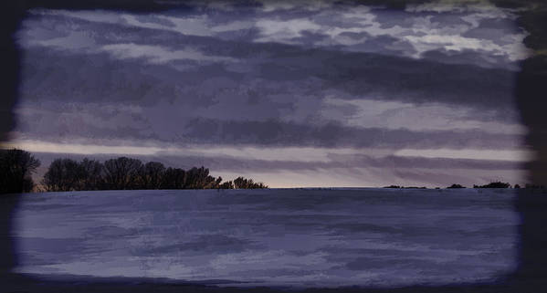 Winter Art Print featuring the photograph Winter Blues by Thomas Young